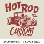 Hot Rod Vector Custom Race Car...