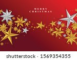 red christmas background with...   Shutterstock .eps vector #1569354355
