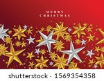 red christmas background with...   Shutterstock .eps vector #1569354358