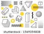 geometric design and memphis...   Shutterstock .eps vector #1569354838