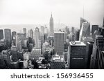 new york city in black and... | Shutterstock . vector #156936455
