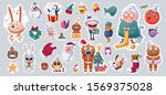 set of merry christmas and... | Shutterstock .eps vector #1569375028