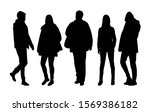 vector silhouettes of  men and... | Shutterstock .eps vector #1569386182