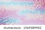 abstract holographic pink. blue ...