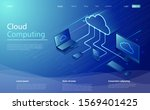 cloud computing  use network... | Shutterstock .eps vector #1569401425