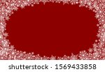 christmas background with white ... | Shutterstock .eps vector #1569433858