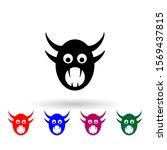 monster multi color icon....