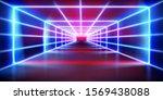 illuminated tunnel. lighting... | Shutterstock .eps vector #1569438088