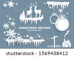 snowflakes  stars  ice  sphere... | Shutterstock .eps vector #1569438412
