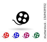 video tape multi color icon....