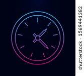 clock nolan icon. simple thin...
