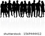 group of people. crowd of... | Shutterstock . vector #1569444412