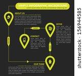 simple infographic vector... | Shutterstock .eps vector #156944585