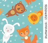 christmas pattern | Shutterstock .eps vector #156945056