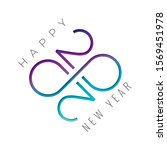2020 cut numerals logo with... | Shutterstock .eps vector #1569451978