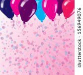 background with balloons and... | Shutterstock . vector #156949076