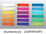 post note stickers mock up... | Shutterstock .eps vector #1569494395
