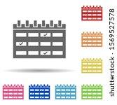 calendar  events in multi color ...