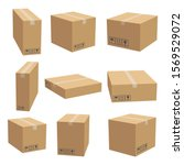 Set Of Cardboard Box Mockups....