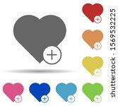 heart plus in multi color style ...