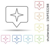 star sign in multi color style...
