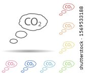 carbon dioxide outline in multi ...