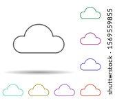 cloud data multi color icon....