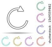 refresh sign multi color icon....