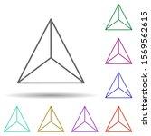 3d triangle multi color icon....