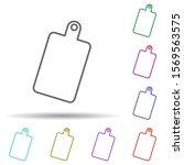 chopping board multi color icon....
