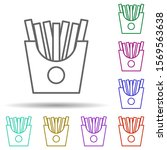 french fries multi color icon....
