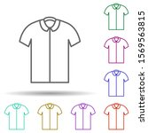 polo shirt in multi color style ...