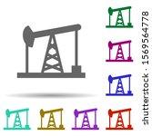 oil pumps in multi color style...