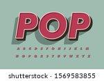 modern 3d font and alphabet for ...   Shutterstock .eps vector #1569583855