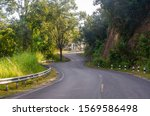 curved road among forest in the ... | Shutterstock . vector #1569586498