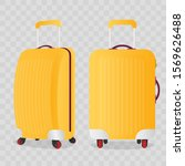 yellow suitcase for travel...   Shutterstock .eps vector #1569626488