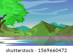illustration of mountains and a ... | Shutterstock .eps vector #1569660472