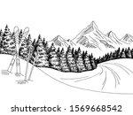 mountain skiing graphic black... | Shutterstock .eps vector #1569668542