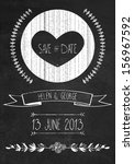 Chalkboard Save The Date...