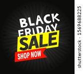 black friday sale vector banner  | Shutterstock .eps vector #1569688225