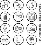 12 icon set of electronic...