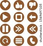 12 basic elements icons for...