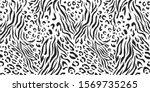 seamless vector black and white ... | Shutterstock .eps vector #1569735265