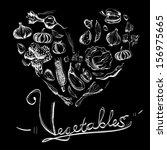 hand drawn vegetables set | Shutterstock .eps vector #156975665