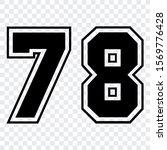 sport number 78 vector template ... | Shutterstock .eps vector #1569776428