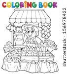 coloring book farmer theme 2  ... | Shutterstock .eps vector #156978422