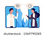online psychotherapy concept.... | Shutterstock .eps vector #1569790285