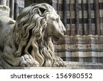 Lion Statue In The Cathedral O...