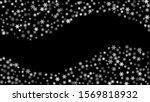 snowfall  snowflakes in... | Shutterstock .eps vector #1569818932