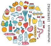 supermarket grosery store food  ... | Shutterstock .eps vector #1569819562